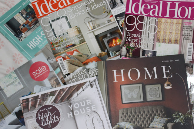 Home magazines and autumn home interior