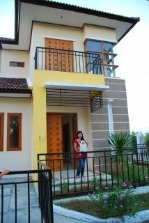 foto cat eksterior rumah minimalis