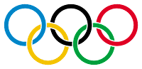 Different colored Olympic rings representing five continents