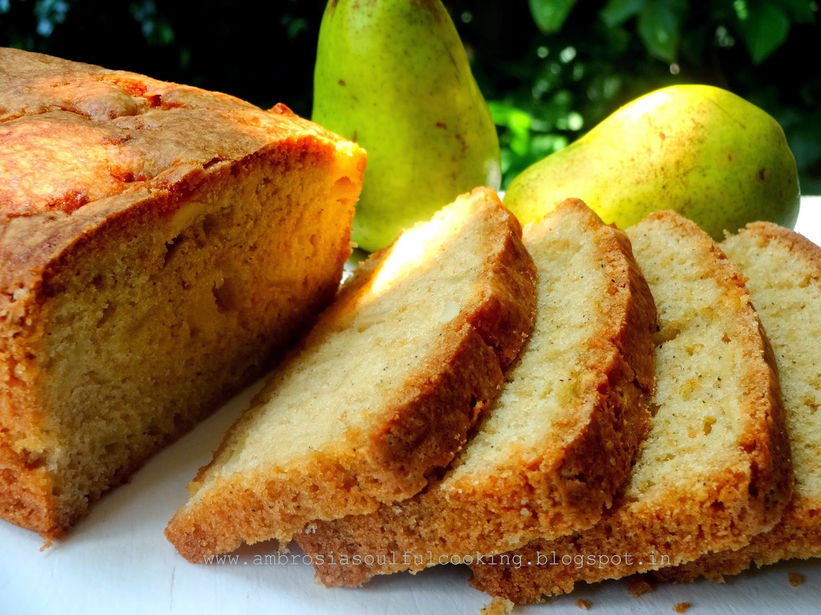 AMBROSIA: Fresh Pear Tea Bread #twelveloaves