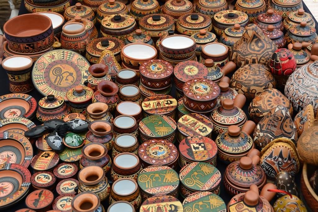 Pisac Market wooden cups