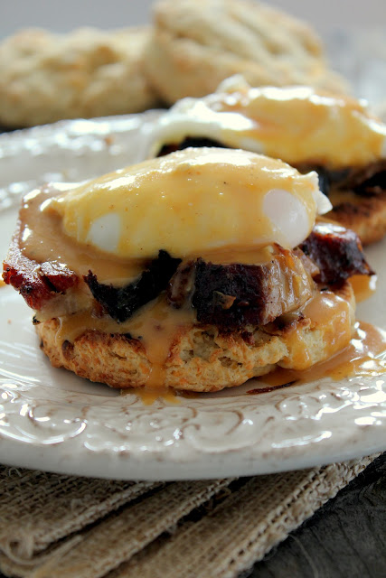 BBQ eggs benedict recipe from cherryteacakes.com