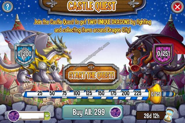 imagen del progreso de la isla del castillo de dragon city para ipad y iphone
