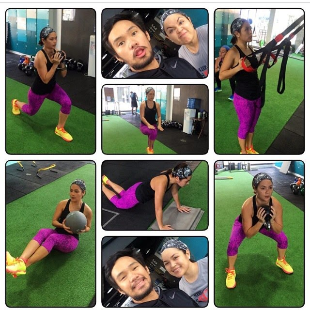 Judy Ann Santos does the gym Ryan Agoncillo stays in the kitchen