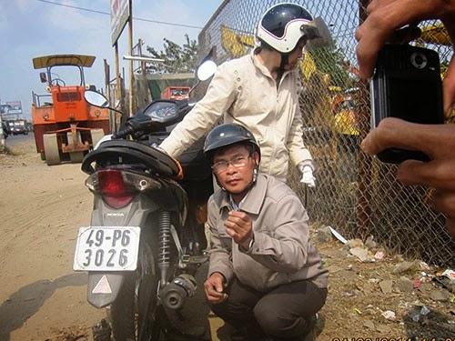 Đây là lần thứ ba ông Hoàng Thành Phương bị cán đinh trên Quốc lộ 1A đoạn giữa Nghĩa trang Liệt sĩ TP HCM và cầu Đồng Nai.