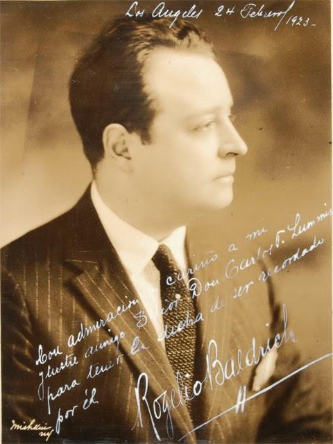 GREAT ARGENTINE TENOR ROGELIO BALDRICH (1890 - 1975) CD