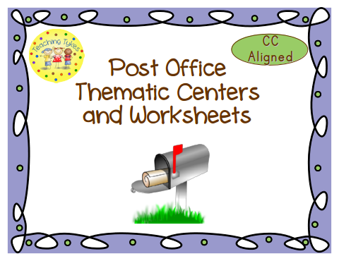 http://www.teacherspayteachers.com/Product/Post-Office-Thematic-Centers-and-Worksheets-Common-Core-Aligned-878333