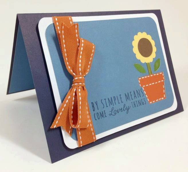 Close To My Heart Artfully Sent Cricut cartridge sunflower pop up card sideview