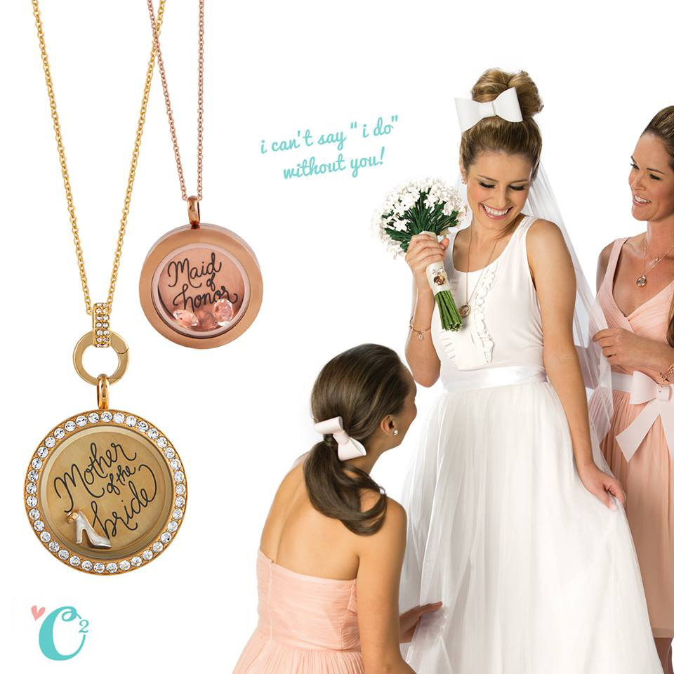 Origami Owl Bridal Collection for the Bridal Party at StoriedCharms.com