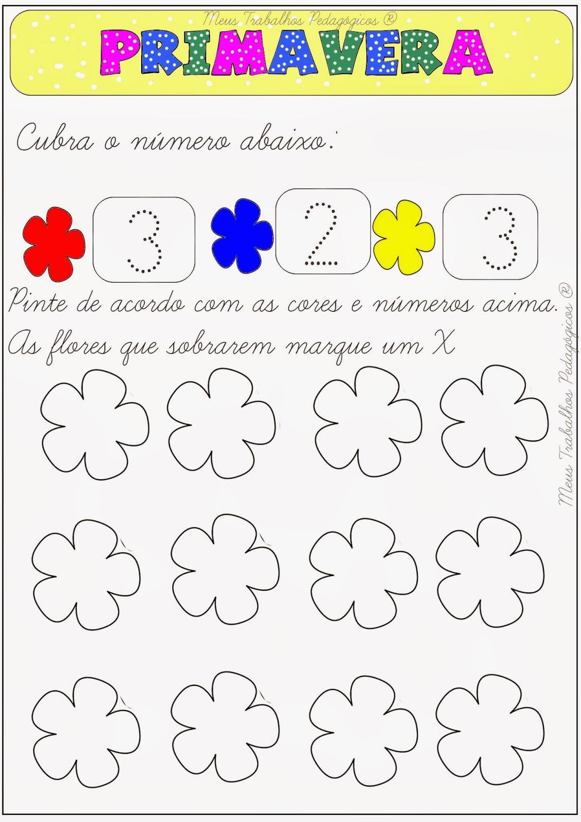 Extremamente Meus Trabalhos Pedagógicos ®: Plano de aula primavera: cores e números WX07