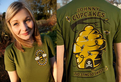 Johnny Cupcakes Animal Kingdom T-Shirt Collection - Bumblebee T-Shirt Front & Back