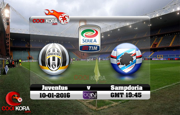 مشاهدة مباراة سامبدوريا ويوفنتوس اليوم 10-1-2016 في الدوري الإيطالي