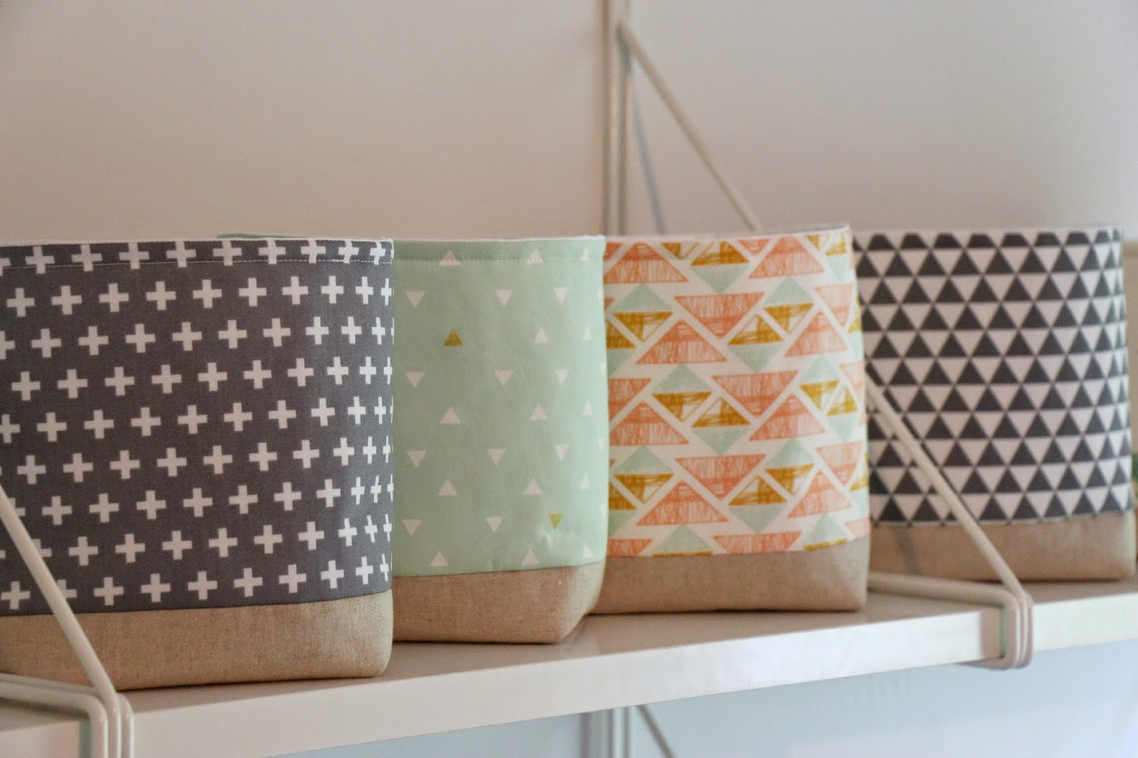 Handmade Fabric Storage Baskets : A crafty hen storage baskets
