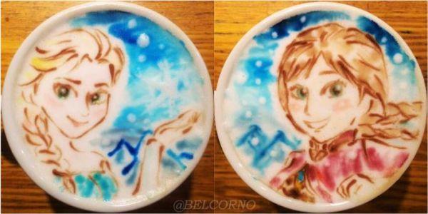 Seni Anime di Atas Roti Pancake