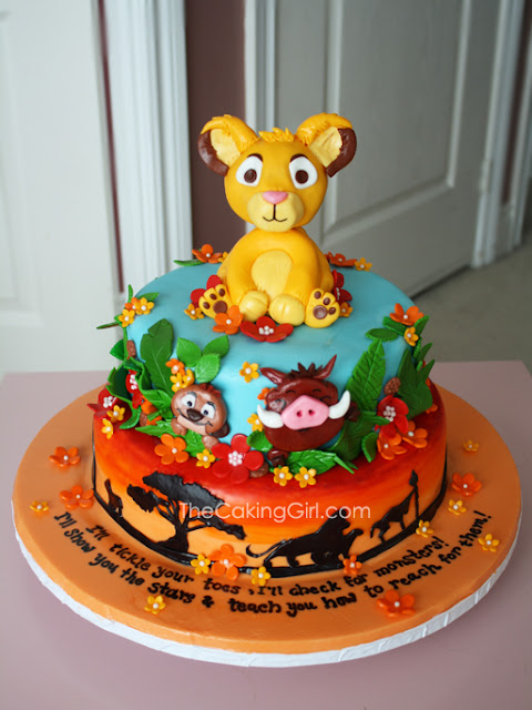 beautiful lion king cake