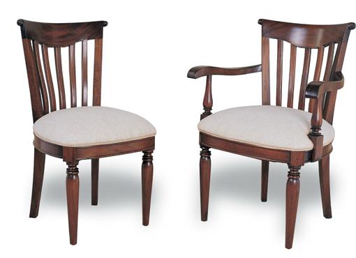 Kr tres conjuntos de silla con y sin reposabrazos para el for Sillas comedor con reposabrazos