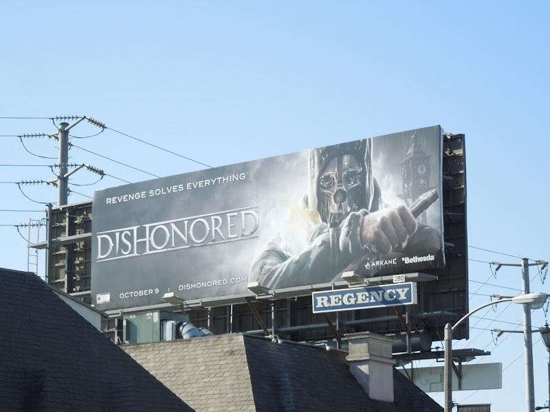 Dishonored game billboard