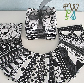 Black And White Fat Quarters 55