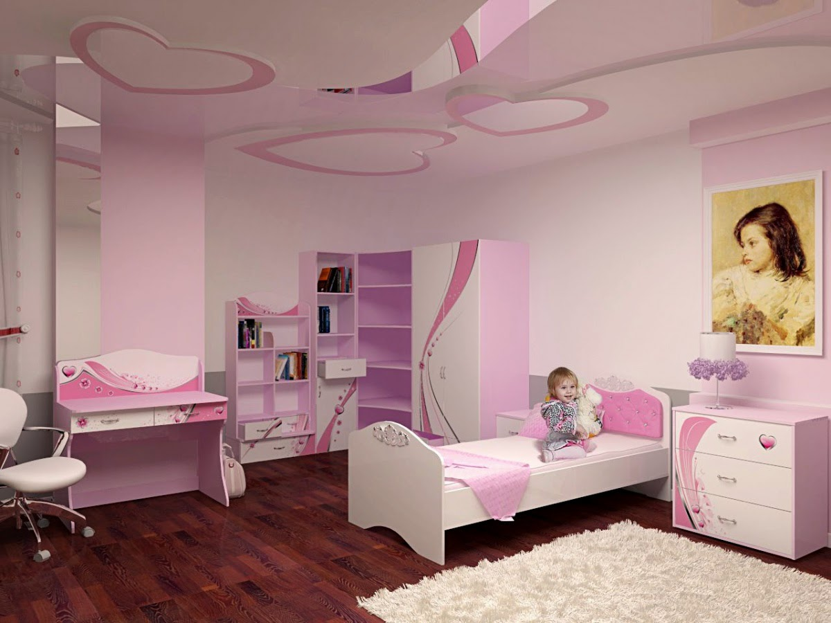 Delicieux Little Girls Room Furniture Ideas And False Ceiling Design