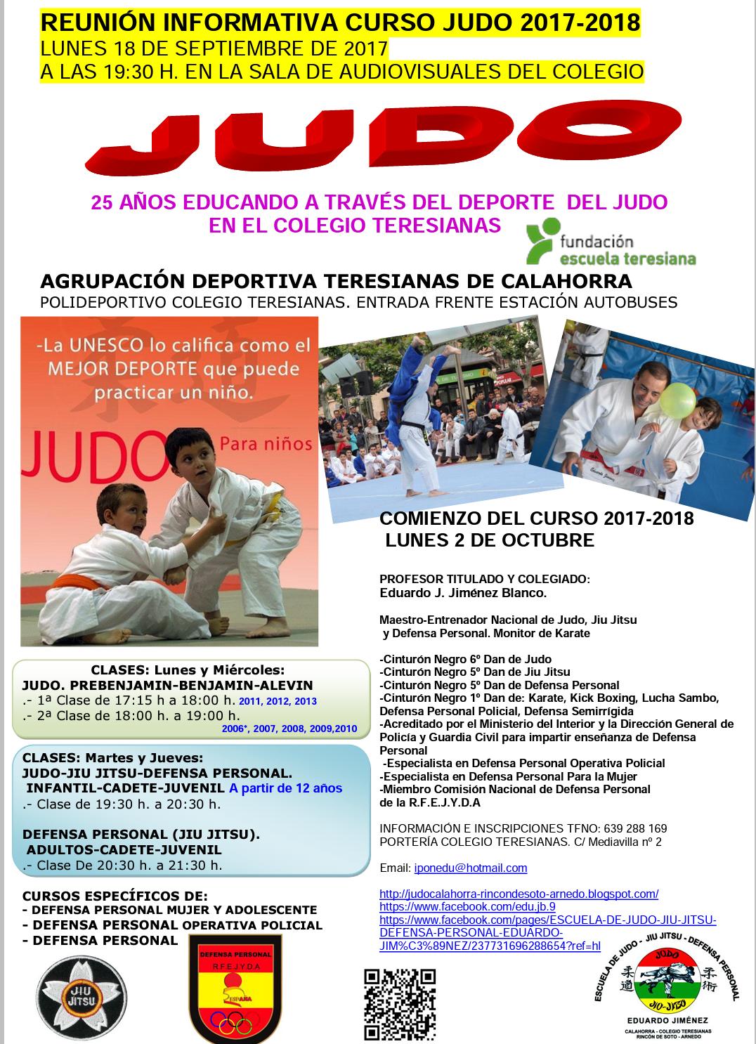 Reunión informativa Judo curso 2017-2018