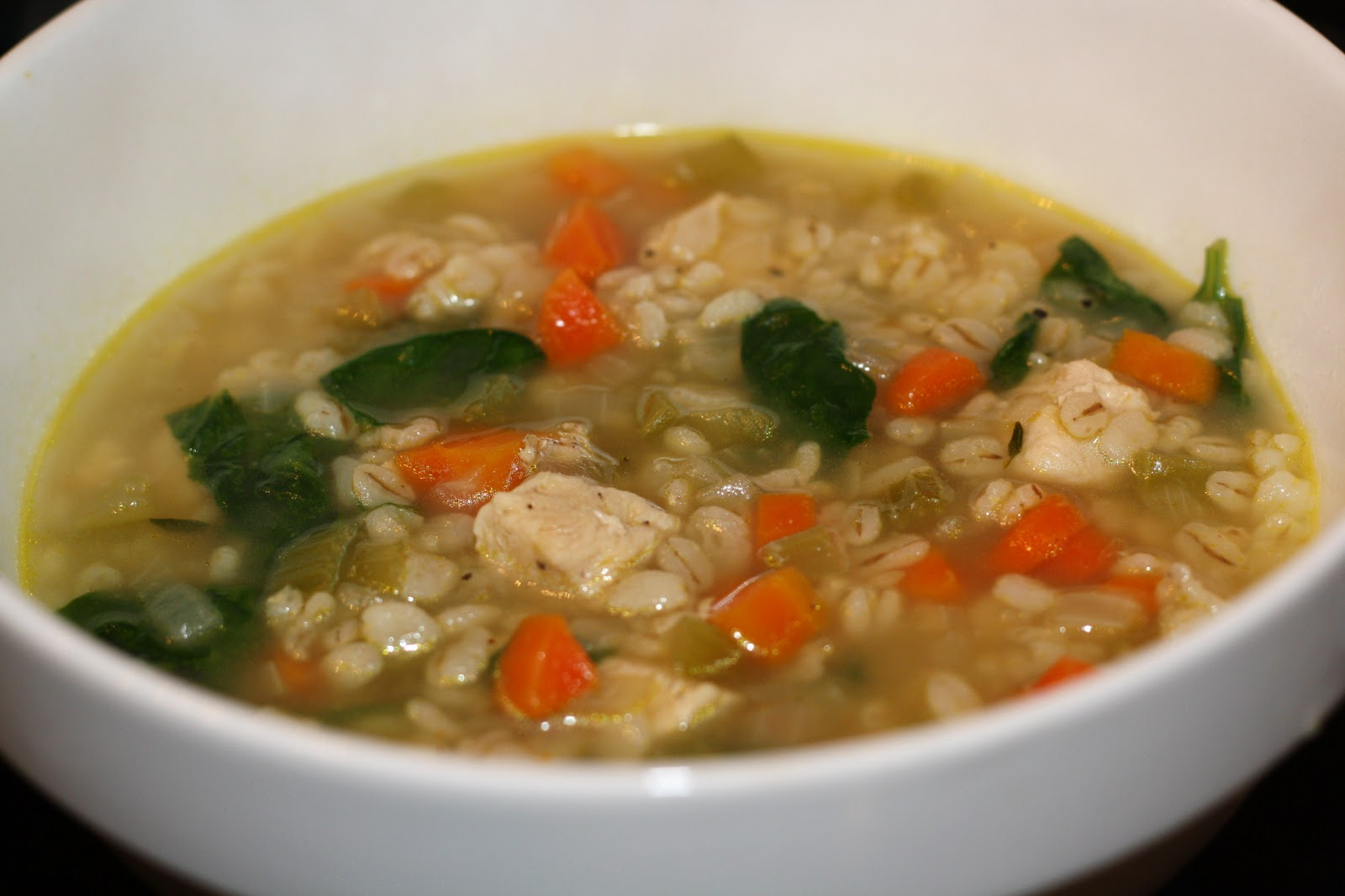 what's for dinner?: chicken barley soup... 45 minutes