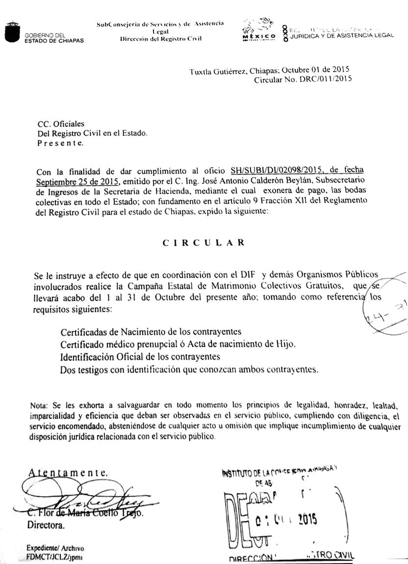 Invita Sistema DIF Palenque a casarse ¡gratis! - primiciachiapas.com.mx