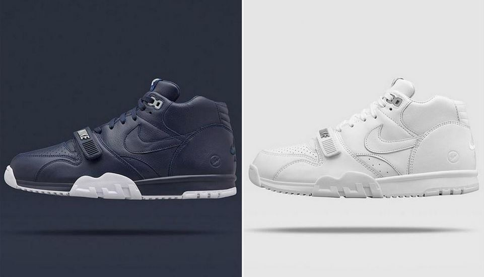 pick up 519cd c1852 Fragment Design x Nike Air Trainer 1 Mid SP Shoes Available (Images)