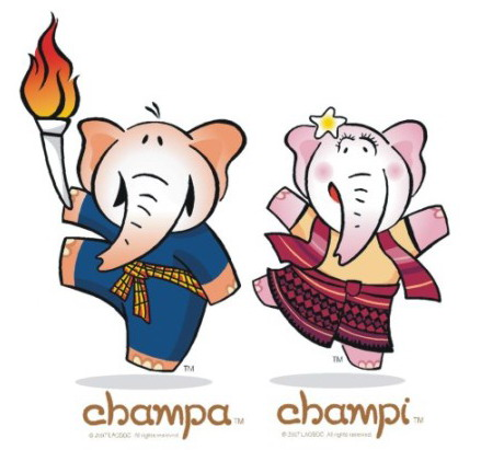 Champa and Champi official mascots of 2009 SEA Games in Vientiane, Laos
