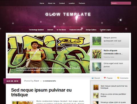 Glow Blogger Theme