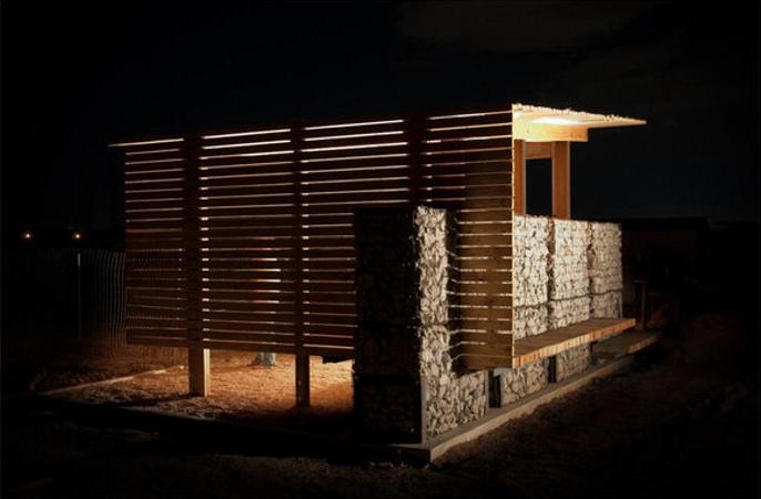 Construcci n de centro de producci n - Casas con palets de madera ...