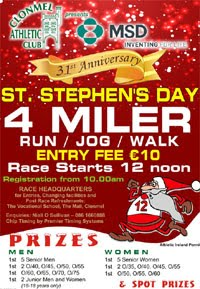Big 4 mile race in Clonmel - Thurs 26th Dec 2019