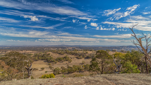 view from rocky spur goldfields track