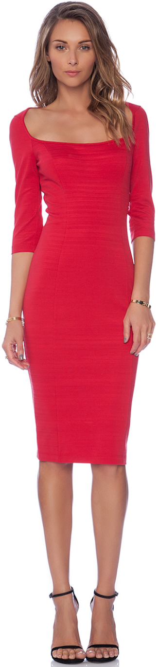 RED Black Halo Sheath RED dress