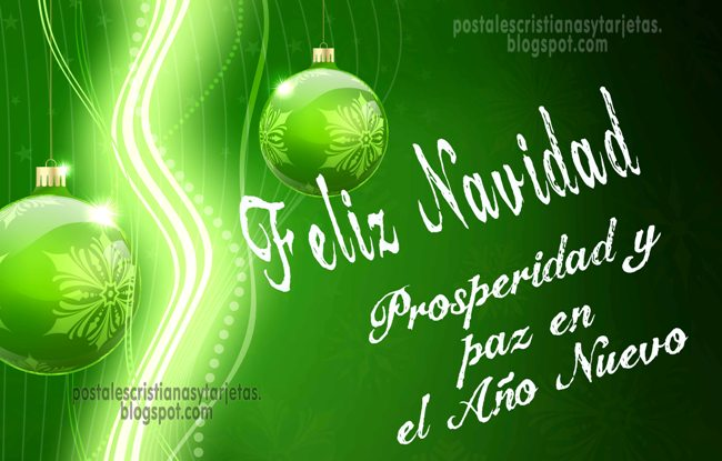 Feliz navidad prosperidad y paz postales cristianas y - Tarjetas navidenas cristianas ...