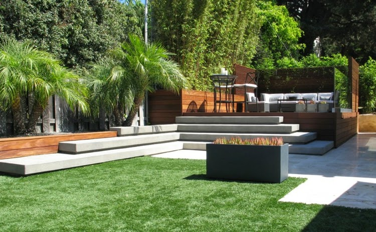 Modern garden design examples planters as accent houzz for Home garden design houzz