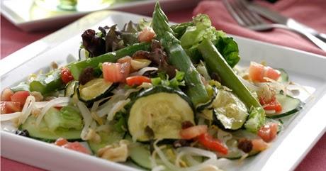 Cocina para Diabeticos, Ensalada de Esparragos y Pepino