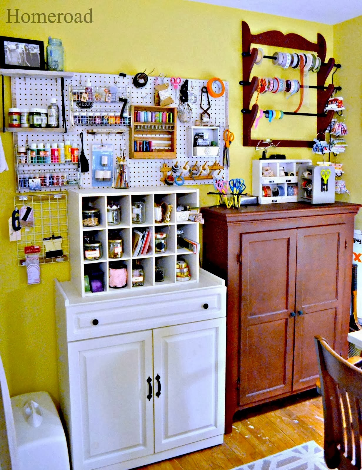 craft room organization www.homeroad.net