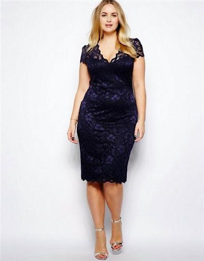 baju long dress pesta wanita gemuk terbaru 2015