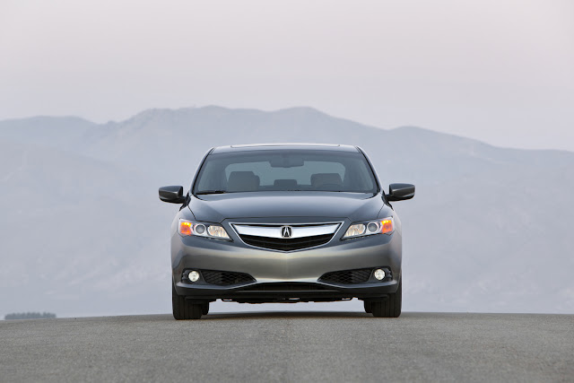 Front view of 2013 Acura ILX on desert road