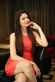 Simran Kaur Mundi Beautiful Punjabi Babe in Red Skirt at Kingfisher Hyderabad Fashion Week