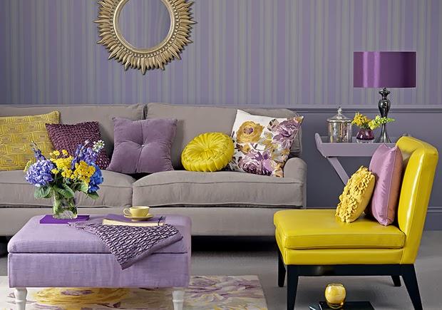 decoracao de sala lilas : decoracao de sala lilas:Nayara Bendasoli : Decoração: Tendências de cores de 2014.