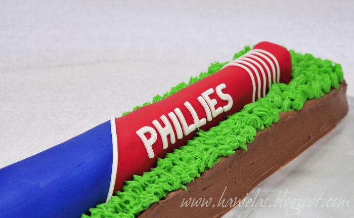 Haniela S Philadelphia Phillies Baseball Bat Cake Tutorial