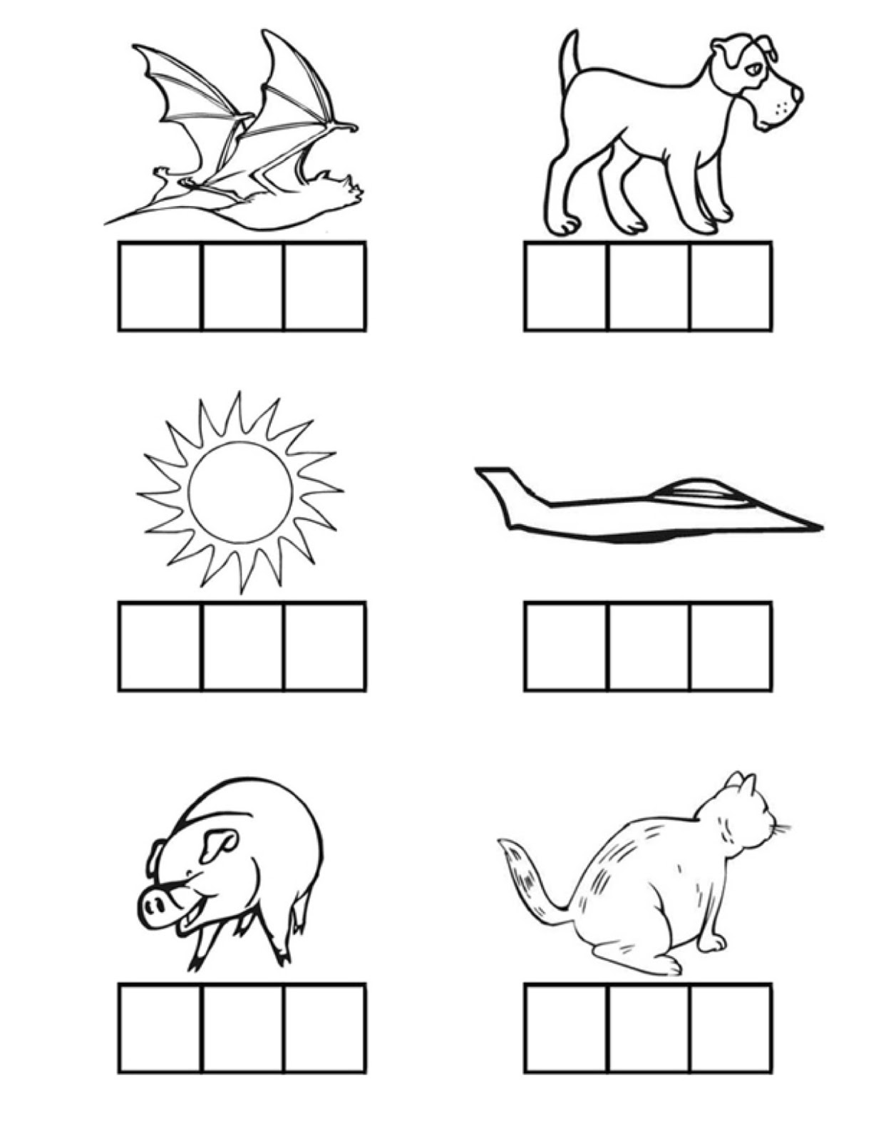 ... Kindergarten Phonics Printable Worksheet. on kindergarten blending