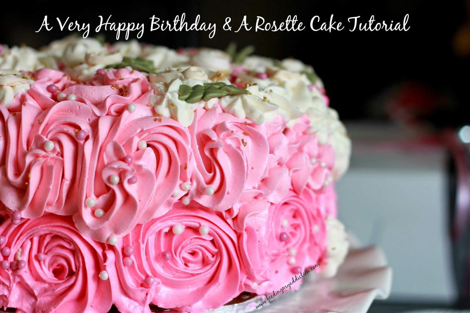 Feeding My Addiction A Very Happy Birthday A Rosette Cake Tutorial
