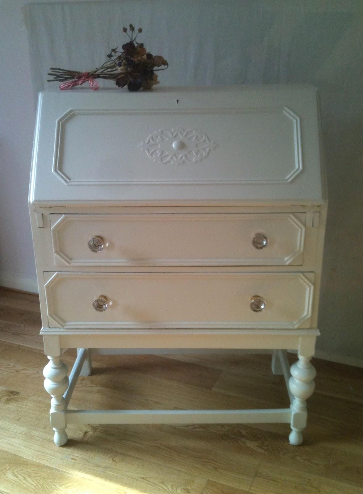 Vintage Antique White Drawer Pulls