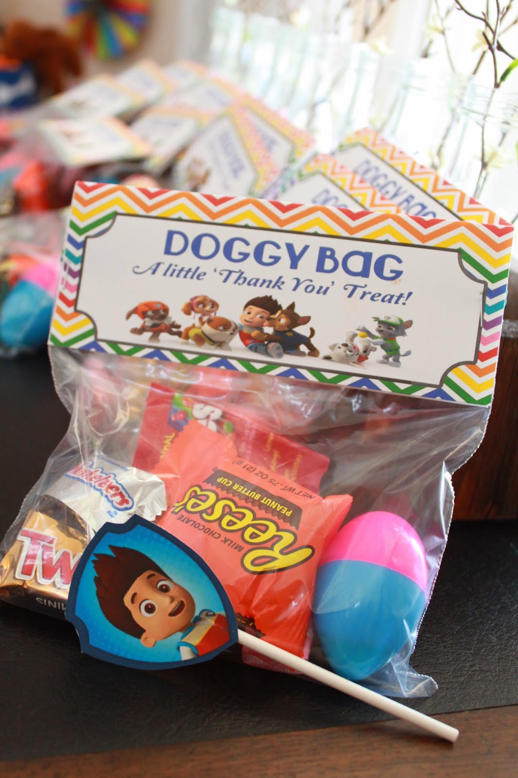 paw patrol birthday party treat bags doggy bags