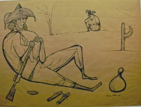 pinturas de cangaceiros
