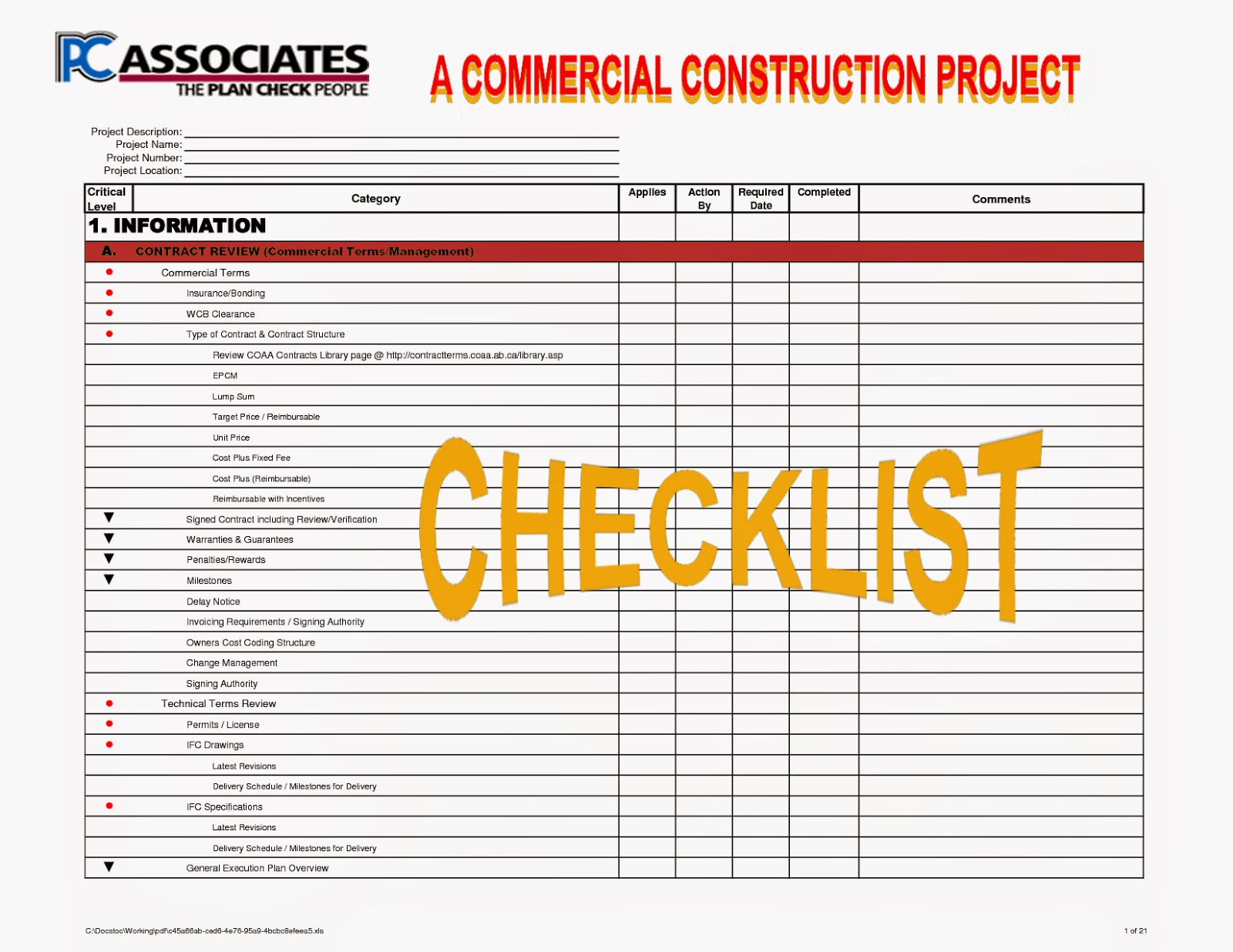 Construction processes review for Building a new home checklist
