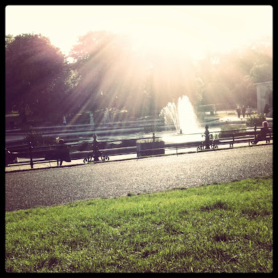 Sunny day in Hyde Park, London
