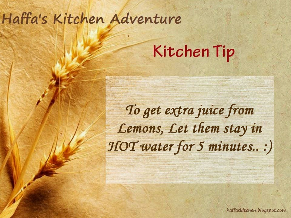 lemon juice  haffas kitchen tips  Kitchen tips  how to get extra juice from lemons